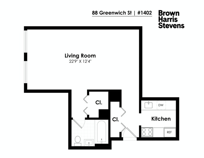 88 Greenwich Street 1402, Battery Park City, NYC, $2,950, Web #: 21128004