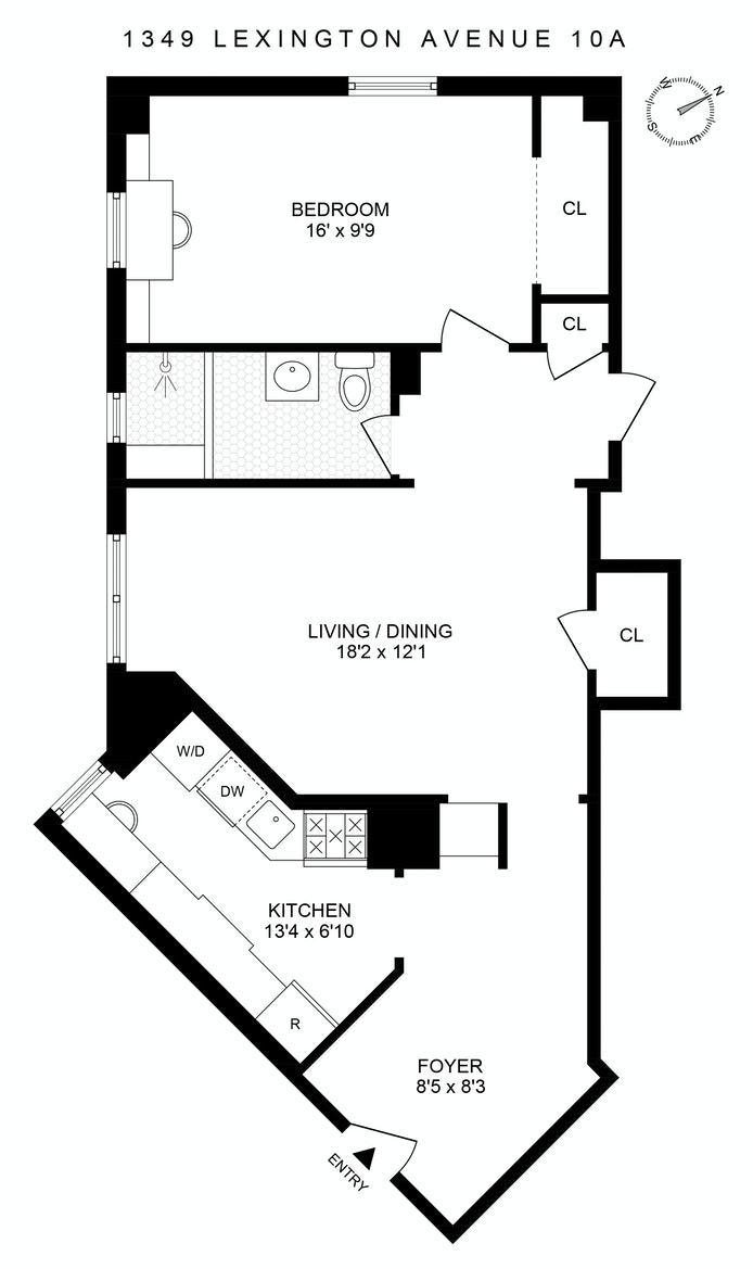 1349 Lexington Avenue 10A, Upper East Side, NYC, $800,000, Web #: 21143131