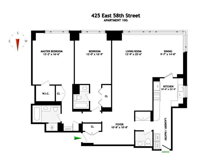 425 East 58th Street 10G, Midtown East, NYC, $1,595,000, Web #: 21144188