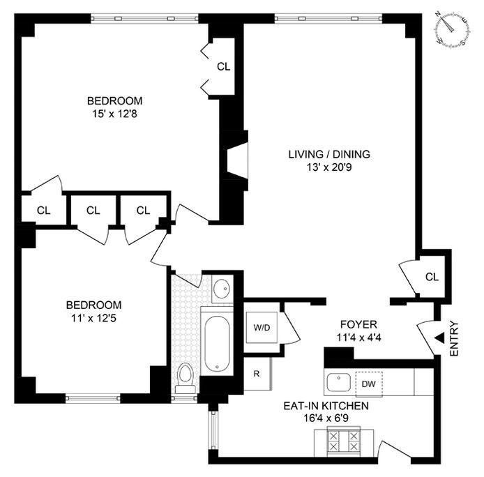440 West 34th Street 5C, Midtown West, NYC, $4,800, Web #: 21152928