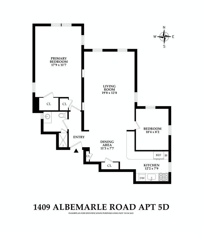 1409 Albemarle Road 5D, Prospect Park South, New York, $795,000, Web #: 21166227