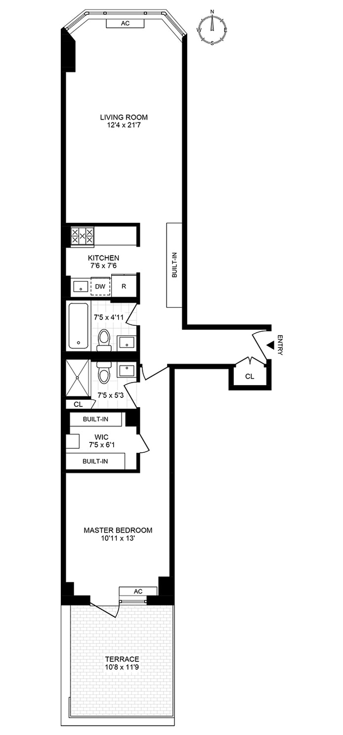 250 West 89th Street 2D, Upper West Side, NYC, $4,600, Web #: 21184742