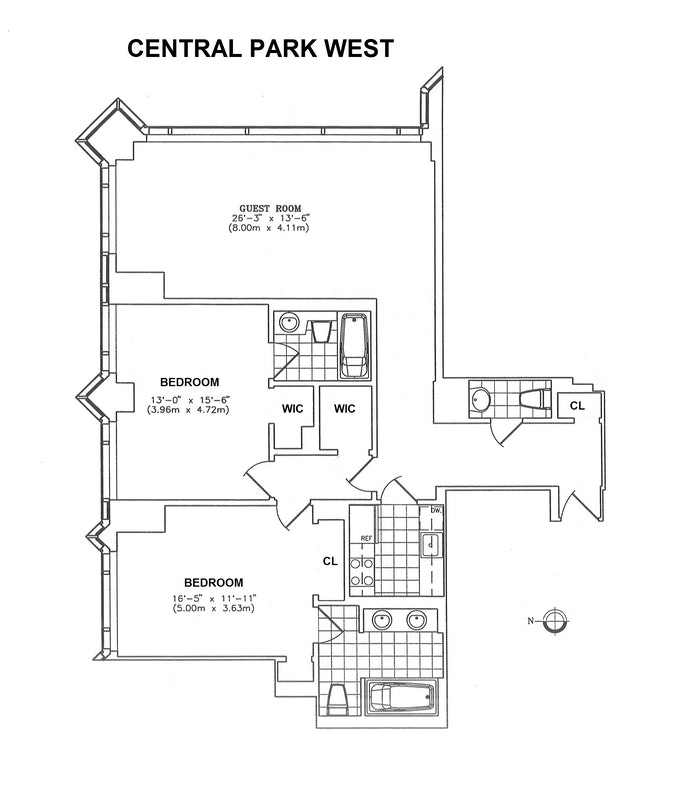 1 Central Park West 1500, Upper West Side, NYC, $3,950,000, Web #: 21188035