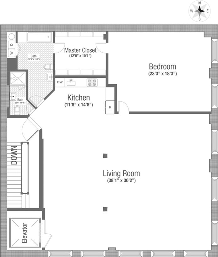 117 Hudson Street 4, Tribeca, NYC, $9,600, Web #: 21188199
