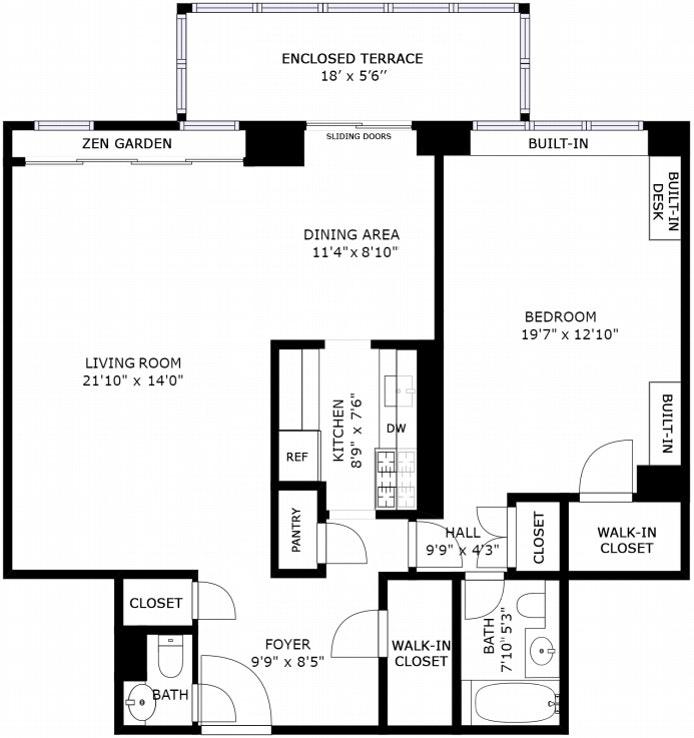 150 East 69th Street 6D, Upper East Side, NYC, $1,200,000, Web #: 21190343