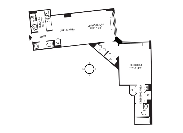 377 Rector Place 7F, Battery Park City, NYC, $638,000, Web #: 21208142