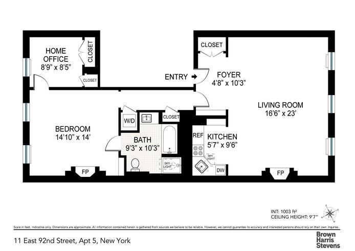 11 East 92nd Street 5thfloor, Upper East Side, NYC, $1,100,000, Web #: 21216179