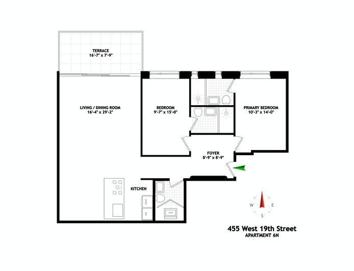 455 West 19th Street 6N, Chelsea, NYC, $13,700, Web #: 21220082