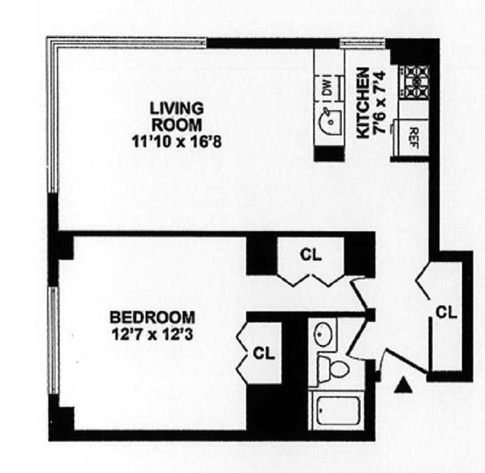 350 West 50th Street 33I, Midtown West, NYC, $895,000, Web #: 21232709