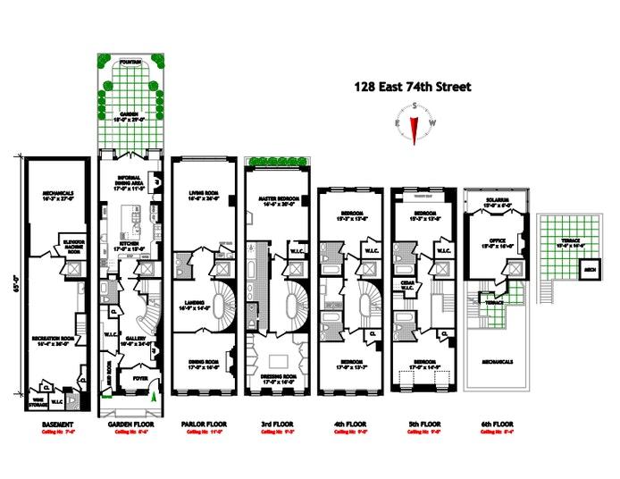 128 East 74th Street, Upper East Side, NYC, $19,995,000, Web #: 21236243