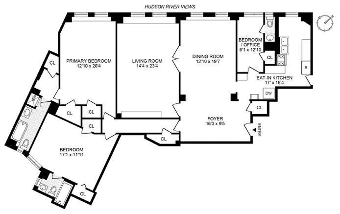 118 Riverside Dr 9D, Upper West Side, NYC, $2,650,000, Web #: 21237737