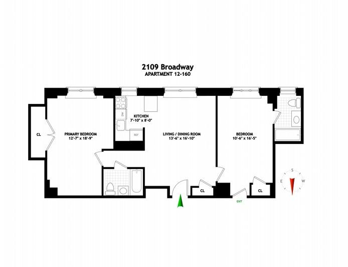 2109 Broadway 12/160, Upper West Side, NYC, $1,350,000, Web #: 21245784