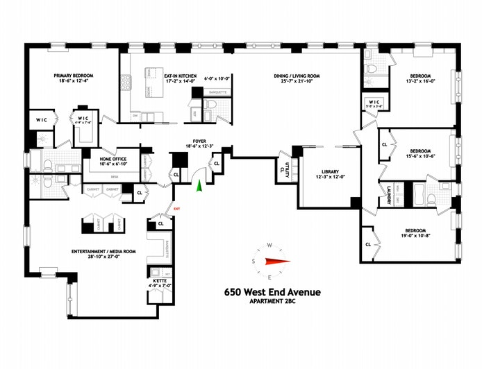 650 West End Avenue 3rdflrbcd, Upper West Side, NYC, $6,595,000, Web #: 21260188