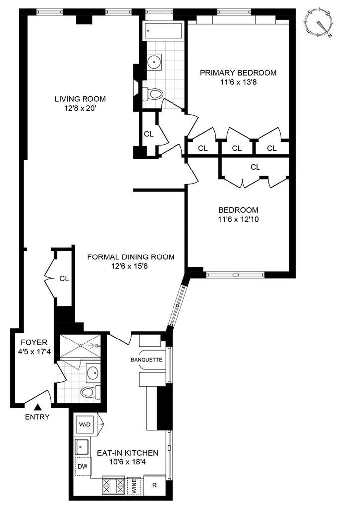 251 West 98th Street 8B, Upper West Side, NYC, $1,595,000, Web #: 21282567