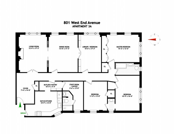 801 West End Avenue 3A, Upper West Side, NYC, $2,650,000, Web #: 21286129