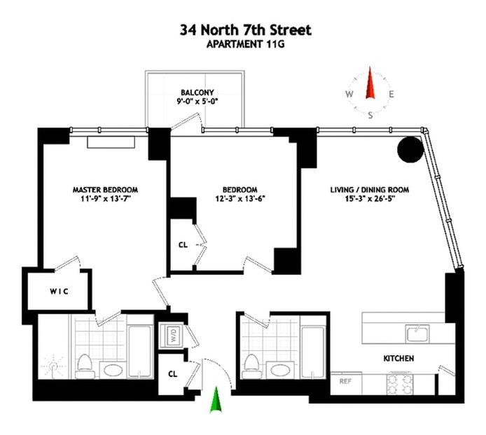 34 North 7th Street 11G, Brooklyn, New York, $6,250, Web #: 21290208