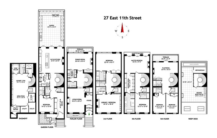 27 East 11th Street, Greenwich Village, NYC, $29,995,000, Web #: 21290817