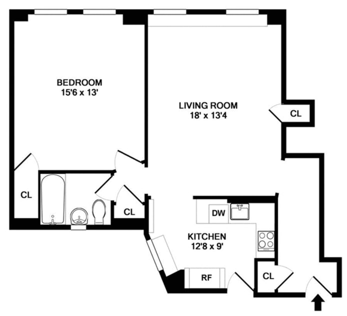 305 West 86th Street 3D, Upper West Side, NYC, $535,000, Web #: 21294133