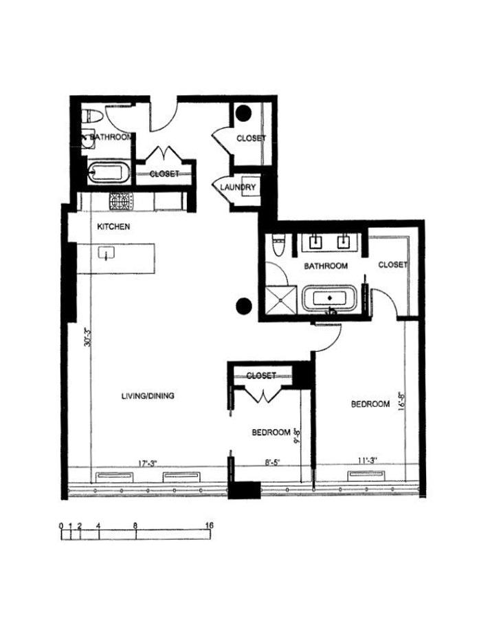 360 Furman Street 639, Brooklyn Heights, New York, $2,100,000, Web #: 21295374