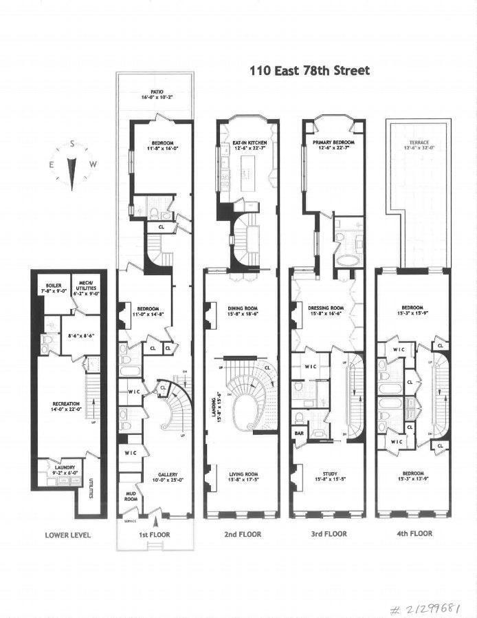 110 East 78th Street, Upper East Side, NYC, $16,995,000, Web #: 21299681