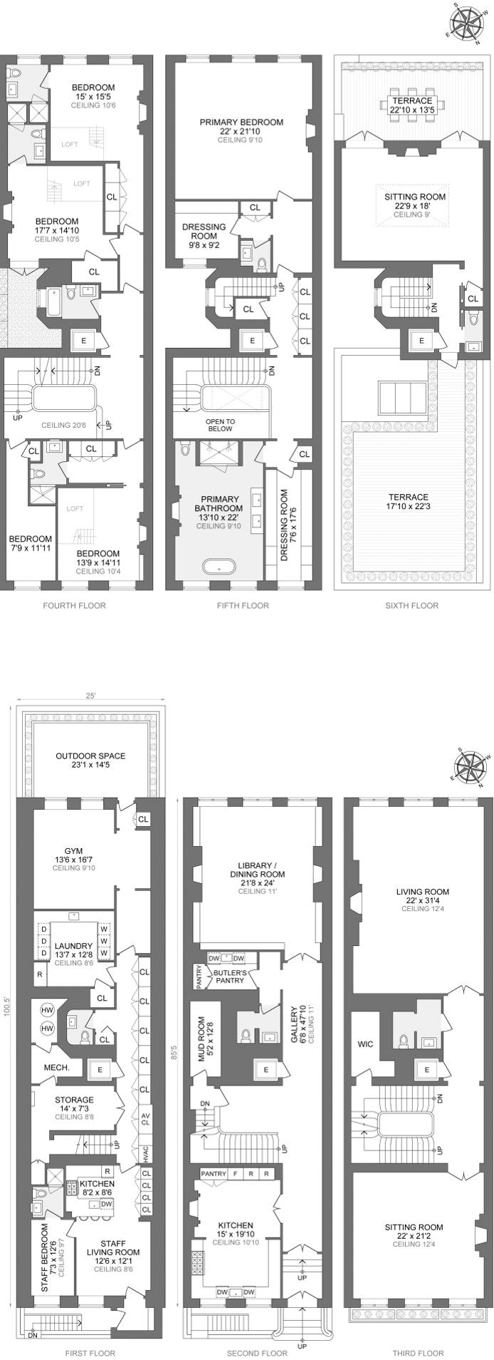 54 East 64th Street, Upper East Side, NYC, $48,000,000, Web #: 21315415