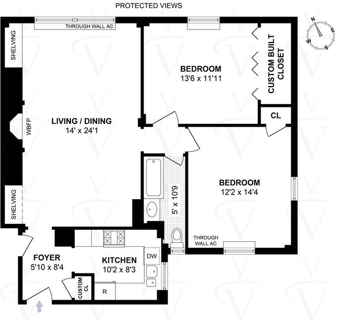 212 East 48th Street 8C, Midtown East, NYC, $749,000, Web #: 21320849
