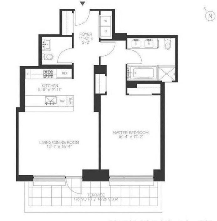 301 East 50th Street 5B, Midtown East, NYC, $5,400, Web #: 21321528