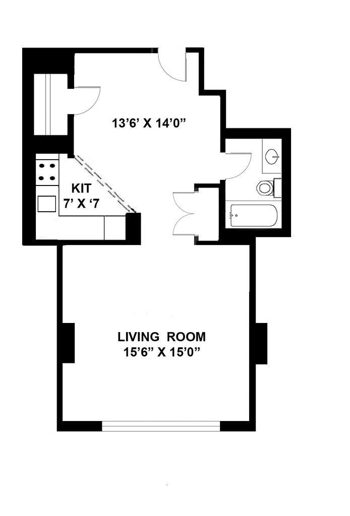 222 West 14th Street 10C, West Village, NYC, $835,000, Web #: 21339161
