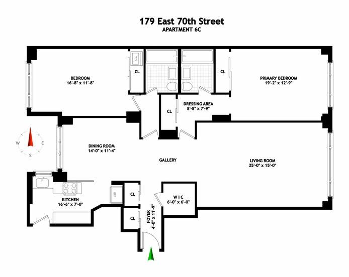 179 East 70th Street 6C, Upper East Side, NYC, $1,795,000, Web #: 21348455