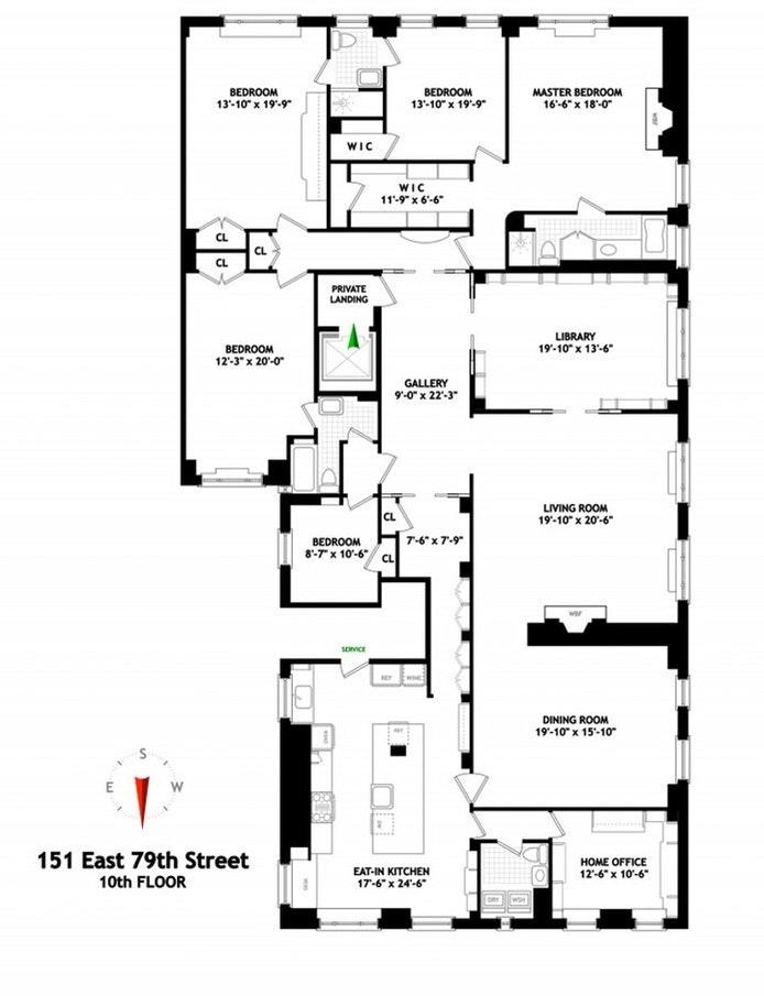 151 East 79th Street 10thfloor, Upper East Side, NYC, $7,250,000, Web #: 21359912