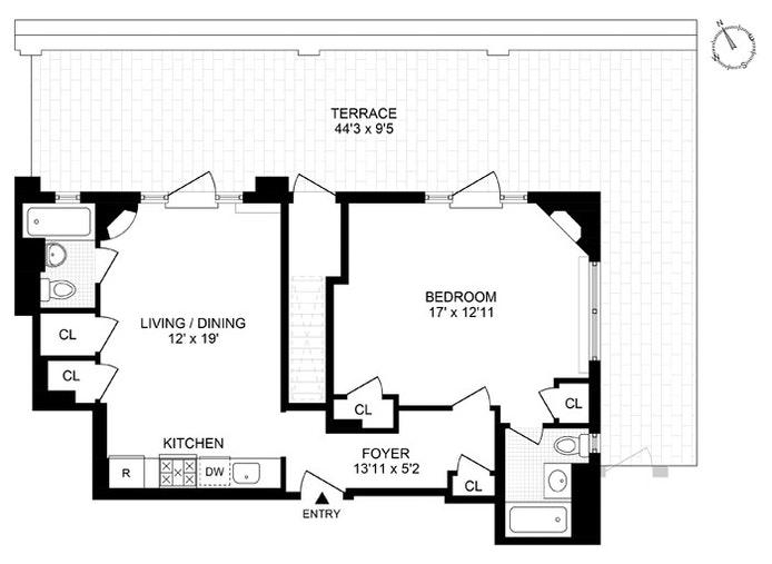 440 West 34th Street 17Ab, Midtown West, NYC, $4,500, Web #: 21362145