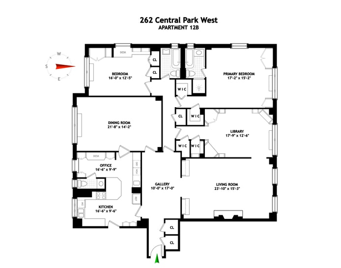 262 Central Park West 12B, Upper West Side, NYC, $4,200,000, Web #: 21362434