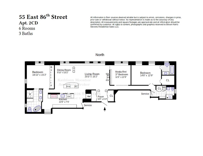 55 East 86th Street 2Cd, Upper East Side, NYC, $3,395,000, Web #: 21375671