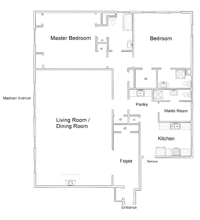 29 East 64th Street, Upper East Side, NYC, $1,800,000, Web #: 290288