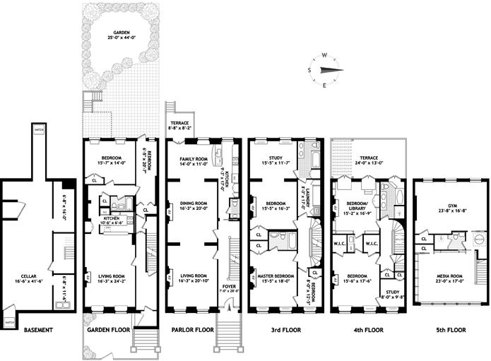 Closed 25 Ft Wide Monroe Pl Brownstone Brooklyn New York Id 3134825 Brown Harris Stevens Luxury Real Estate