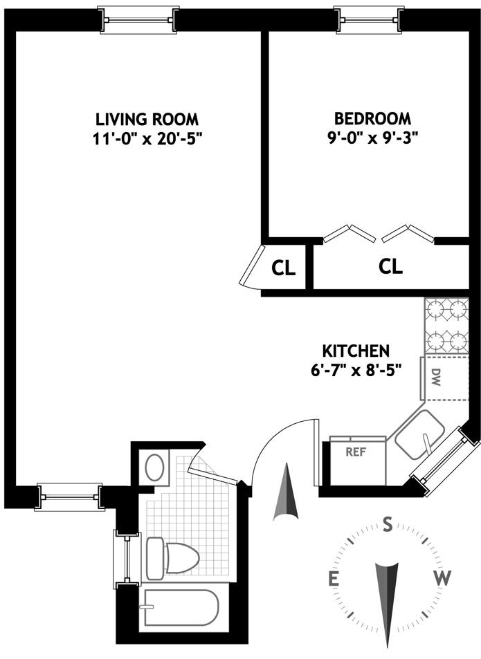 82 Charles Street, West Village, NYC, $610,000, Web #: 3164916