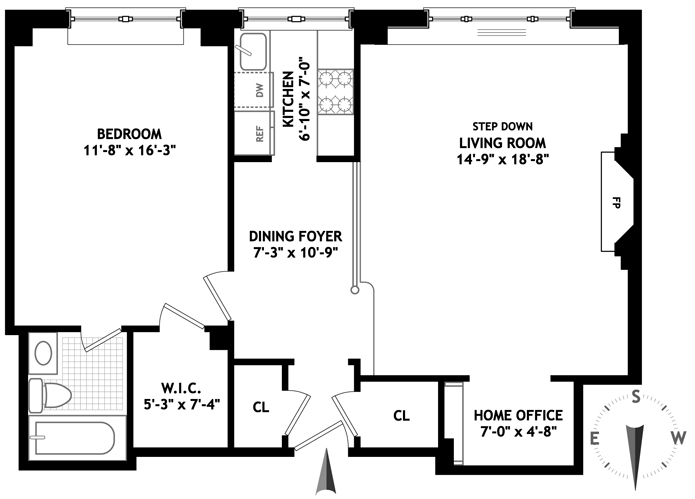 299 West 12th Street, West Village, NYC, $1,595,000, Web #: 3249524