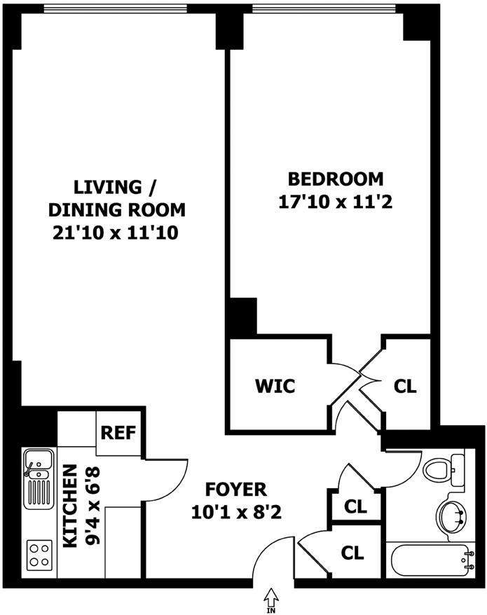 20 West 64th Street 42H, Upper West Side, NYC, $3,750, Web #: 3303206