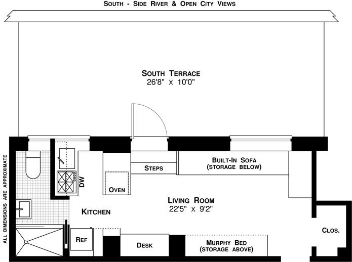 370 Riverside Drive, Upper West Side, NYC, $442,500, Web #: 3303926