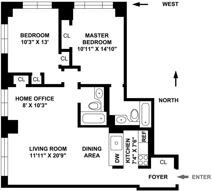 Comfortable Corner 2 Bedroom Plus, Battery Park City, NYC, $4,100, Web #: 3337560