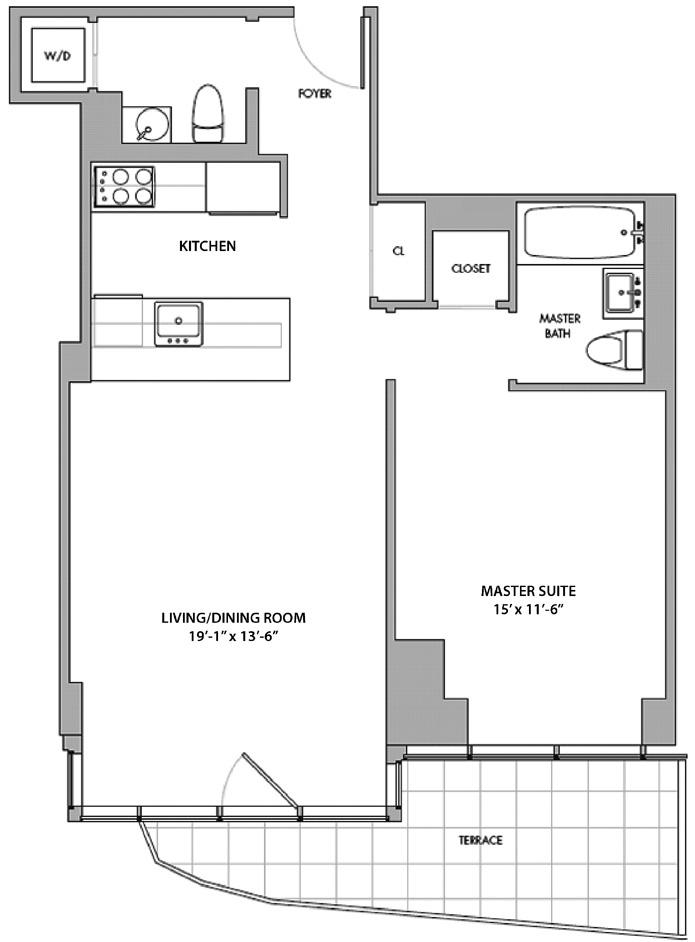 555 West 59th Street, Upper West Side, NYC, $987,000, Web #: 3417645