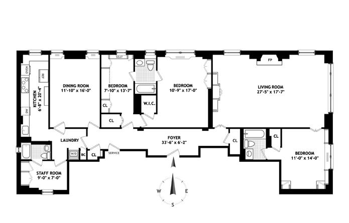 439 East 51st Street, Midtown East, NYC, $1,775,000, Web #: 3423929