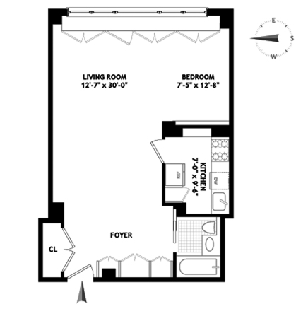 East 68th Street, Upper East Side, NYC, $3,400, Web #: 3568520