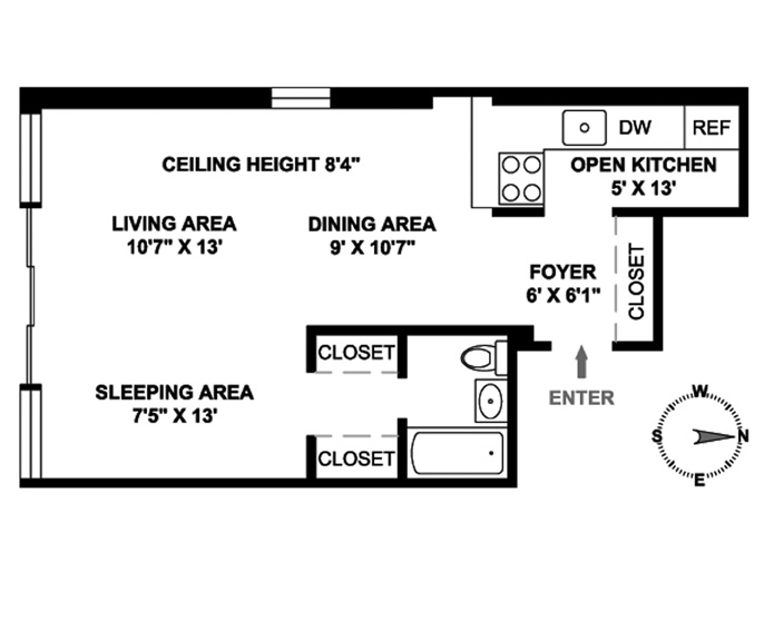 154 West 15th Street, Greenwich Village/Chelsea, NYC, $560,000, Web #: 3617844