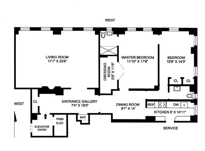 447 East 57th Street, Midtown East, NYC, $870,000, Web #: 3669424
