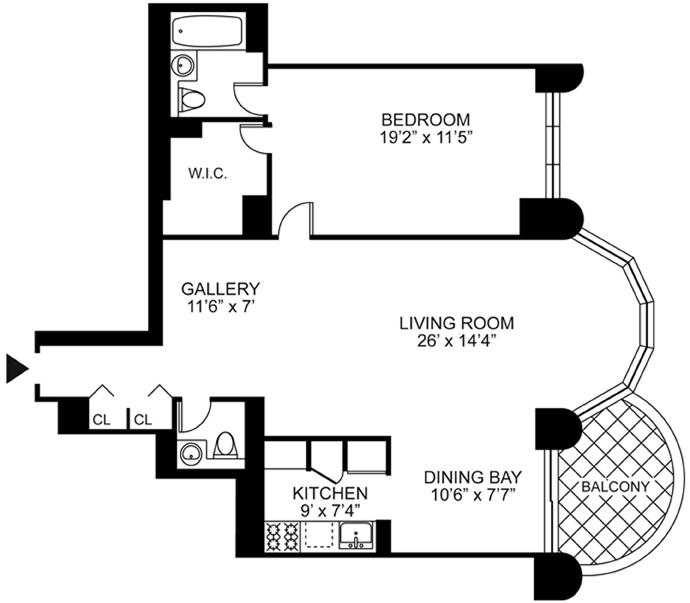 44 West 62nd Street, Upper West Side, NYC, $989,000, Web #: 3669428