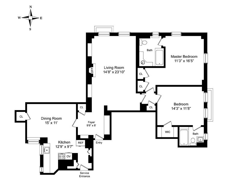 40 Fifth Avenue, Greenwich Village/Chelsea, NYC, $3,125,000, Web #: 3683424