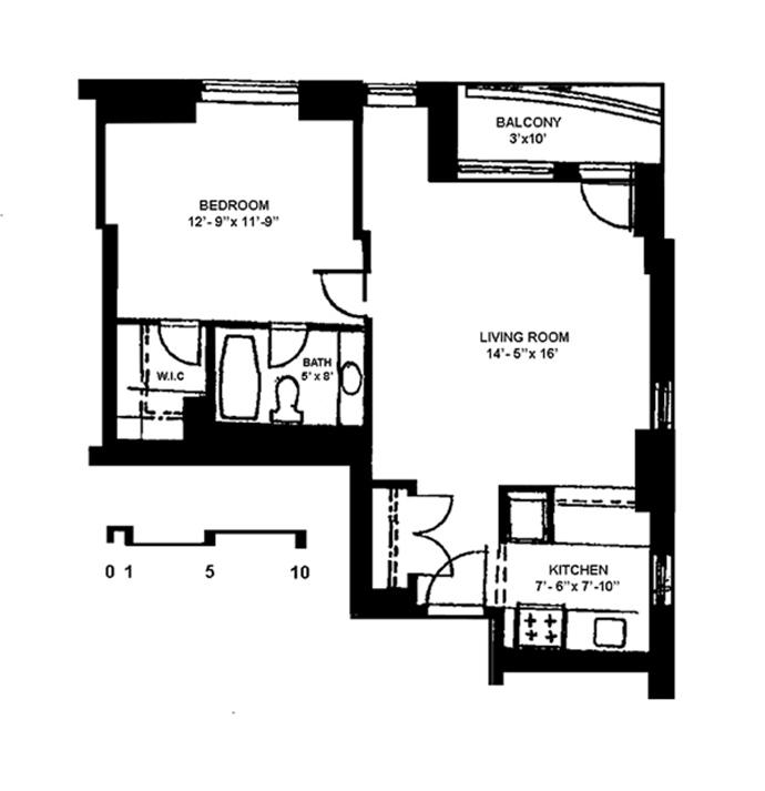222 West 14th Street, Greenwich Village/Chelsea, NYC, $2,700, Web #: 3723950