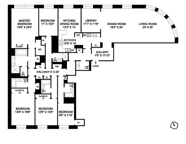 535 West End Avenue, Upper West Side, NYC, $9,400,000, Web #: 3732190