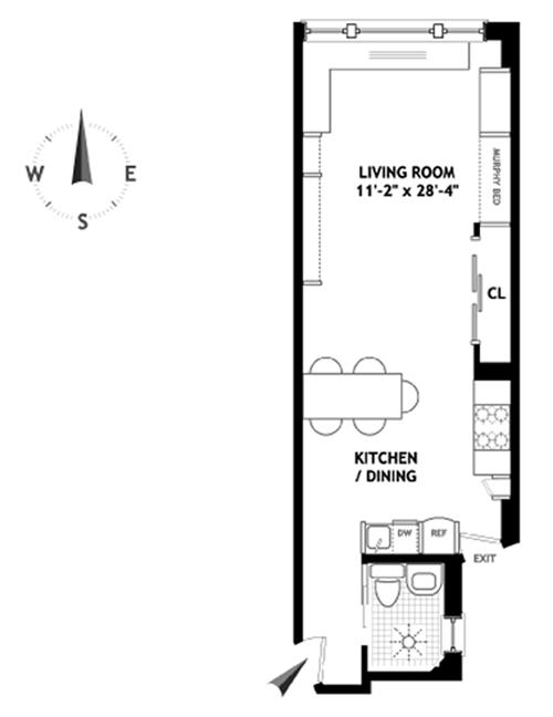 118 West 72nd Street, Upper West Side, NYC, $336,000, Web #: 3746221